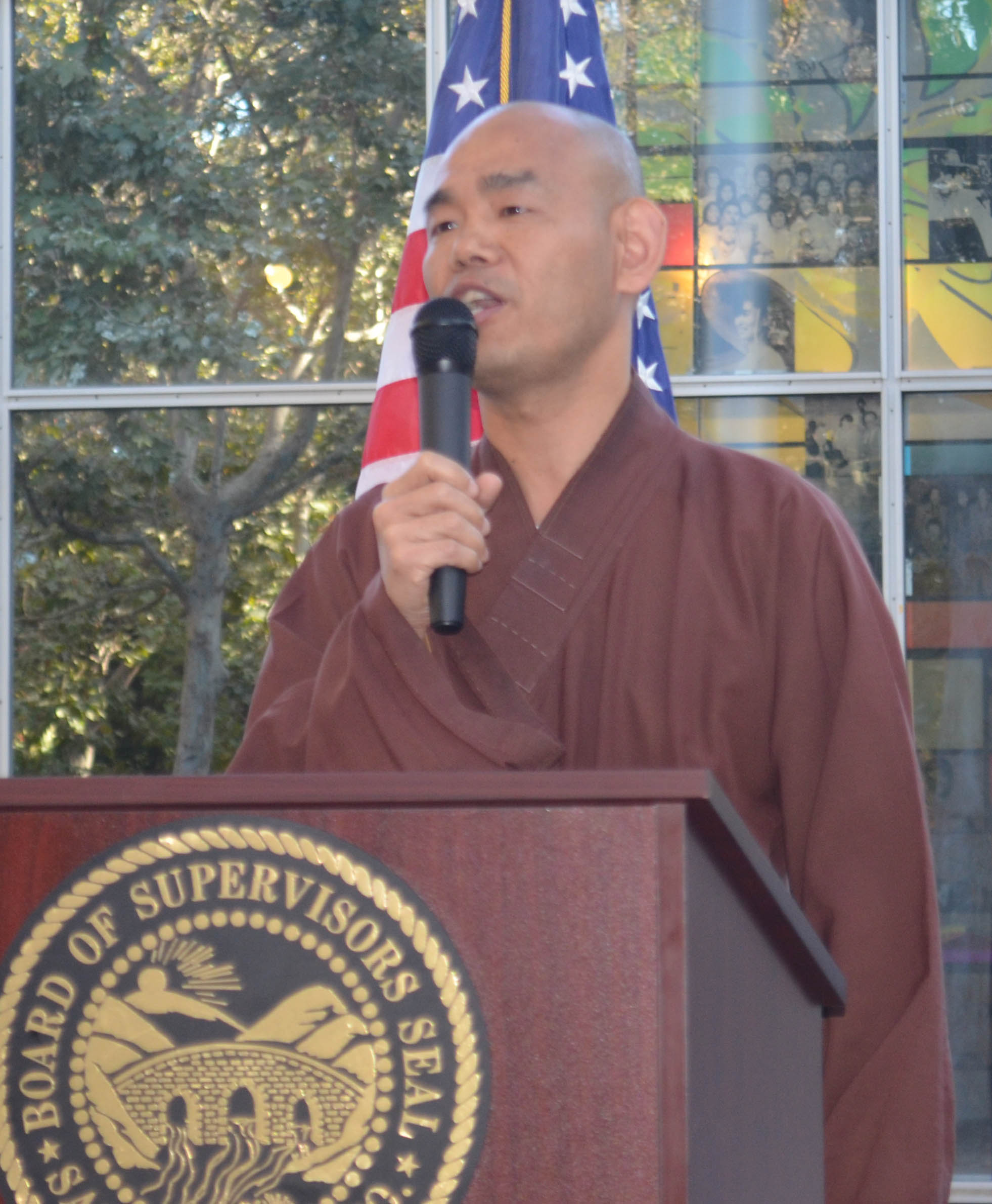 Santa Clara 9-11-2012-Buddhist priest